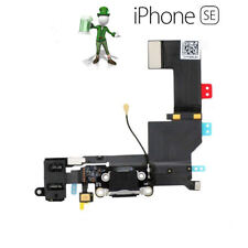 For iPhone SE Charging USB Dock Port Audio Jack Connector Flex Black