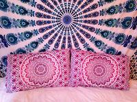 Indien Ombre Mandala Sol Oreillers Grand Oreiller Faux Bohème Coussin Housse Art