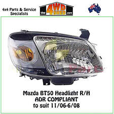 HEADLIGHT suits MAZDA BT50 R/H RIGHT DRIVER SIDE 2006-2008 BT-50 ADR COMPLIANT