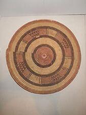 Tight Weave Flat Basket Lid Plate Platter African Art