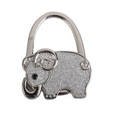 Hook Holder Purse Holder Zinc Alloy Rhinestone Hook Hanger Elephant Foldable