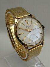 Vintage 1950s Gents Zodiac 17 Jewels Gold Plate Wrist Watch 521