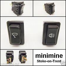 Classic Mini MK3 Headlight & Wiper Switch Dash Set 13H6342 13H6343 rocker cooper