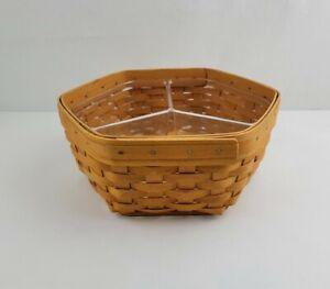 Vintage LONGABERGER Generations Basket Plastic Divided Liner Octagon Shape