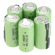 6PCS Ni-Cd BTY 600mAh 1.2V 2/3AA rechargeable Battery NiCd Batteries - Green BTY