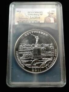 2011 P Gettysburg America the Beautiful 5 Oz Silver Coin NP6 Collector Eidtion