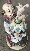 Vintage Waco Melody Motion Hand Painted Porcelain Hobo Clown Music Box