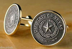 State Seal of Texas Cuff Links