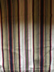 Cotton Window Drapes - Striped Multicolor