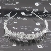 Wedding Crystal Flower Headband Hairband- Bride Bridesmaid Bridal Prom Tiara w/