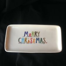 Rae Dunn MERRY CHRISTMAS Platter Dish by Magenta - Colorful
