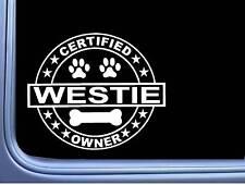 "Certified Westie L306 Dog Sticker 6"" decal"