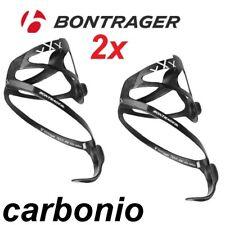 fibra carbonio coppia porta borraccia bontrager 17gr 2x portaborracce bici corsa