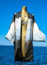 Vintage Japanese Formal Kimono Robe Child's Boy's Miyamairi Silk  Samurai AS IS