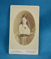 Victorian CDV Photo Carte De Visite Charming Young Lady By Suter Cheltenham