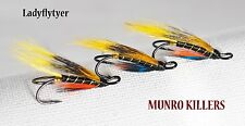 3 x MUNRO KILLERS size 8 SALMON fishing  flies DOUBLES LADYFLYTYER
