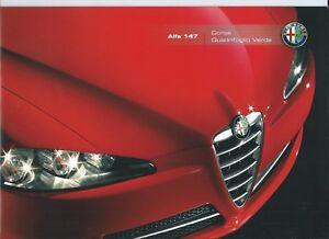 Alfa Romeo 147 Corse & Quadrifoglio Verde Brochure Depliant German 2008