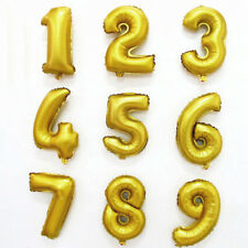 "Gold, Silver Blue & Pink 16"" Alphabet A-Z Letter Number Foil Balloons Party Name"