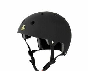 Triple Eight Helmet Multi Sport Brainsaver Black Rubber S/M L/XL COSMETIC DEFECT