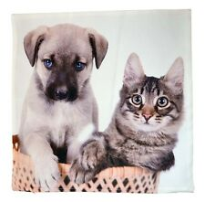 Kissenbezug,40x40cm,Polyester,pflegeleicht,Kissenhülle,Katze,Kätzchen,Hund,Welpe