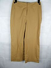 NEXT Sand 100% Cotton Wide Leg Trousers Size 12 Petite, Work Casual Summer