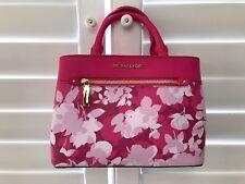 Michael Kors Hailee Satchel Leather Handbags Crossbody Bag Granita White Floral