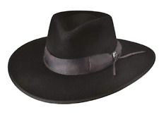 NEW Bullhide Cavalry Charge Premium Wool Western Couture Black Hat Size Large