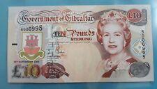 2002 Gibraltar  £10 <P-30> GEM UNC Low No.