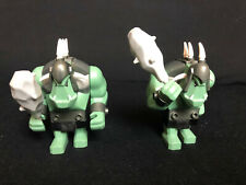 Lego 2 x Fantasy Era  Troll Sand Green with Black Armor Orc Oger cas424
