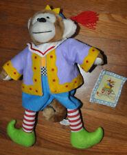1999 ENESCO MARY ENGELBREIT CUTIES Bean Plush Toy, JOJO THE MONKEY Clown