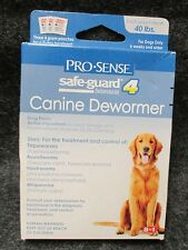 NEW Pro-Sense Safe-Guard Canine Dewormer Dogs up to 40-Pounds Expires 9/2018 NIP