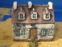 A3  Painted Farm buildings 15mm. For wargame scenery and terrain buildings,