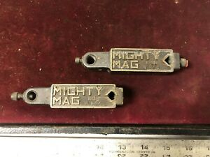 MACHINIST TOOLS LATHE MILL Lot of 2 Mighty Mag Magnetic Indicator Stands Holders