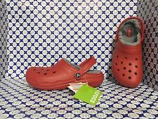 Ciabatta Crocs Unisex - Classic Lined Clog Pelliccia - Rosso Grigio - 203591