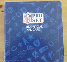 1991 PRO SET THE OFFICIAL NFL CARD FOOTBALL COMPLETE SET IN BINDER 1-850 +