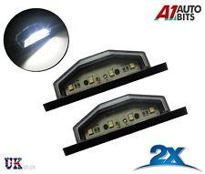 2x  4 White LED Rear Tail License Number Plate Light Lamp 12V Car Truck Trailer