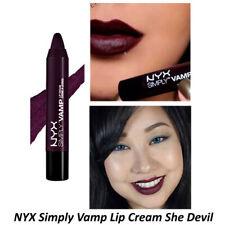 NYX Simply Vamp Lip Cream Lipstick SHE DEVIL Dark Purple Burgundy Red Goth New
