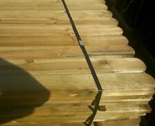 20 ROUND TOP PICKET GARDEN FENCE PALES 900mm LINED FOR SPECIAL EFFECT