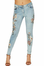 Jeans da donna basso blu sbiaditi