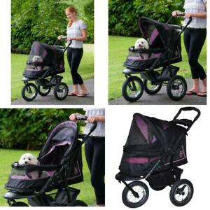 Pet Gear No-Zip NV Stroller for Cats/Dogs, Zipperless Entry, Easy Rose