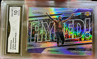 2018 PANINI PRIZM Silver LEBRON JAMES  10 GEM MINT Hall Of Fame Refractor Hyped