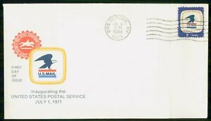 Mayfairstamps US FDC 1971 US Mail 8cents Eagle First Day Cover wwm_26701