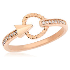 Bow Cocktail Right Hand Ring Braided 18K Rose Gold Pave Diamond Arrow