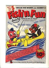 "Vintage ""Fish'N Fun"" Tippy Toy #5 1940"