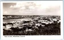 RPPC  WILLEMSTAD, CURACAO   Birdseye VIEW OF TOWN  Cunard White Star Postcard