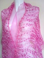 WEDDING SCARF STUNNING SCARVES SHAWLS  COVER UP SHAWL PASHMINA  PINK WRAPS