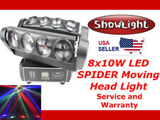 ShowLight CREE RGBW LED 8x10W 4in1 SPIDER Moving Head Stage Light (with rotation
