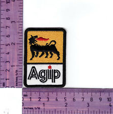 Agip European Oil Company   Heat Sealed Embroidered Cloth Patch....Badge