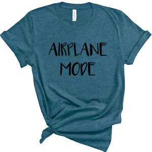 Airplane Mode Antisocial Shirt Introverted Unisex Anti Social T-shirt Size S-3XL