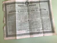 Italy 1888 Rome Stock Share Certificate Ref R25728